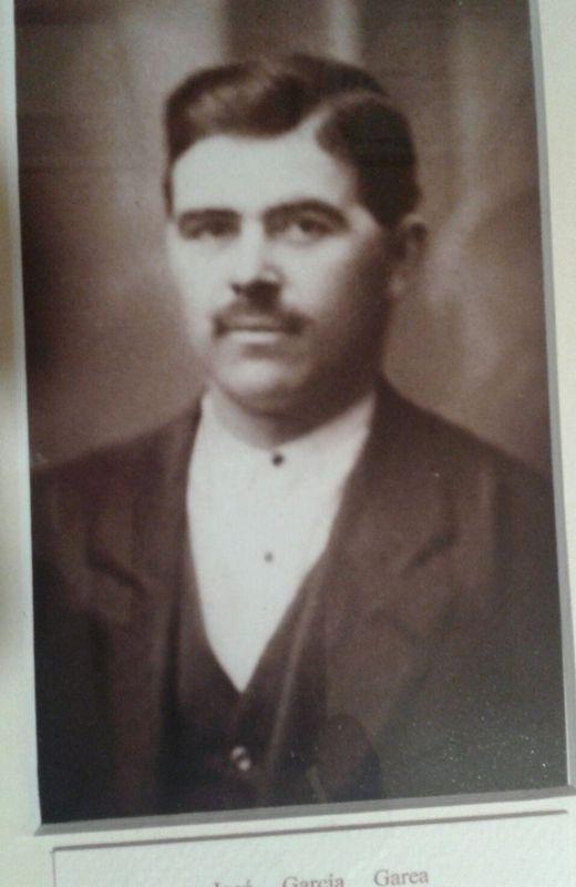 EL MÁS BREVE. El abuelo de Pablo García murió muy joven.