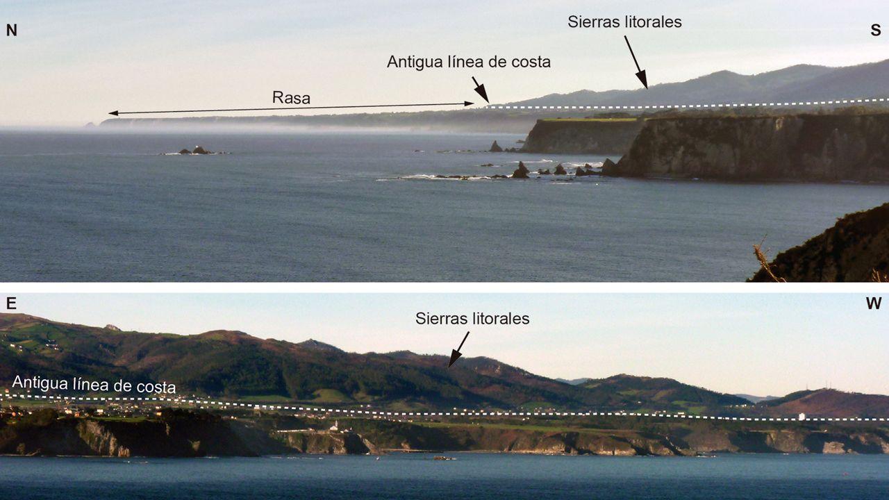Una infografía de la Universidad de Oviedo con una comparativa de la rasa costera asturiana