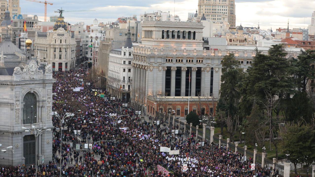 Actos multitudinarios en Madrid en los días de más contagios