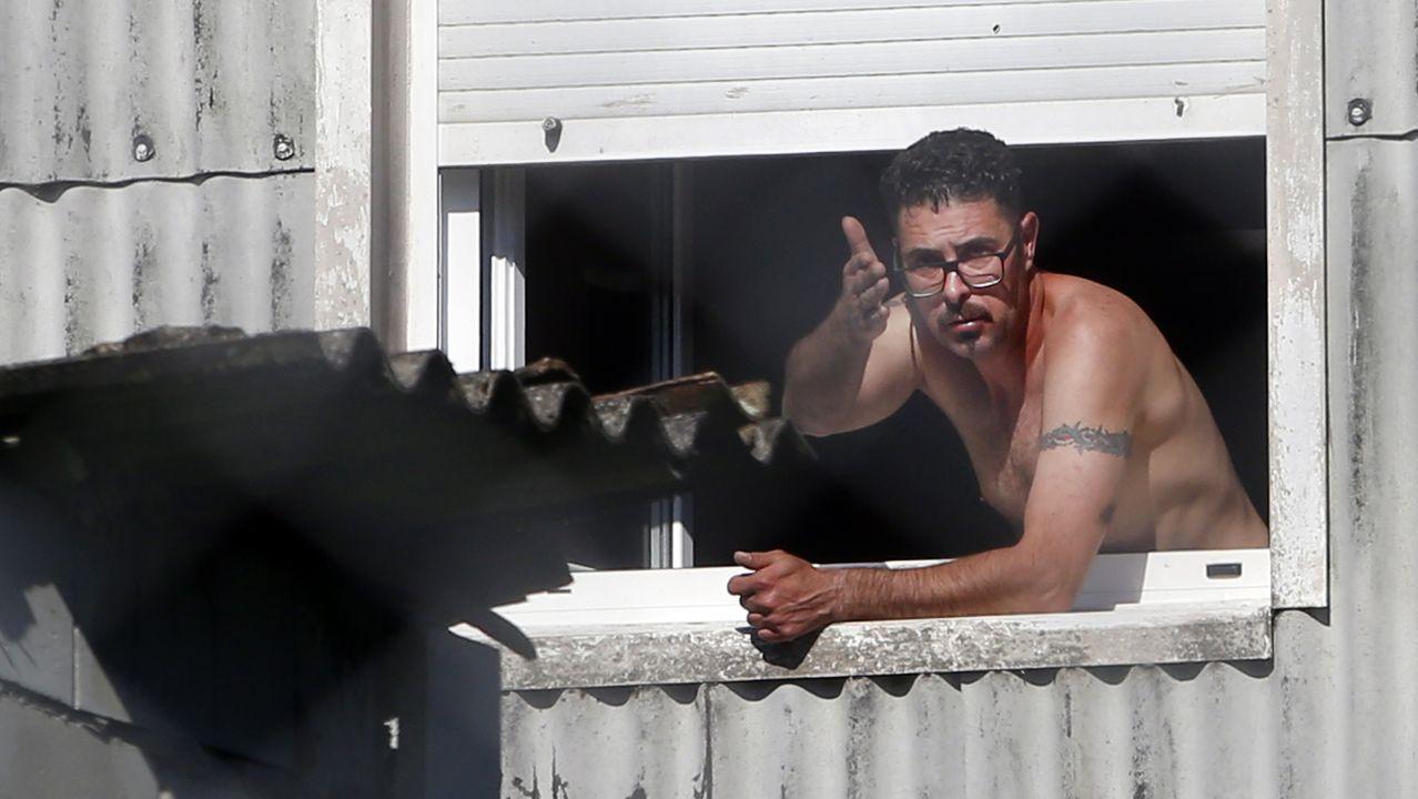 La Guardia Civil intervino en la tensa confrontación vivida ayer en A Guarda
