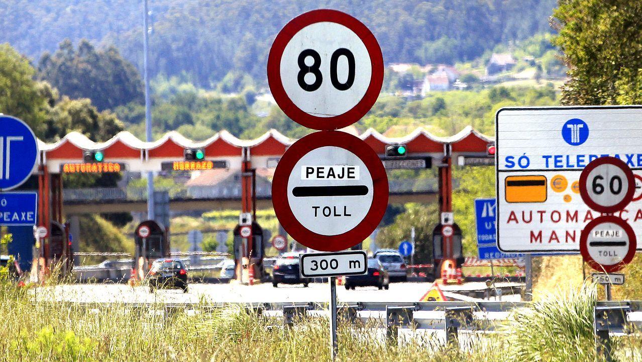El peaje de Teo, en la autopista del Atlántico