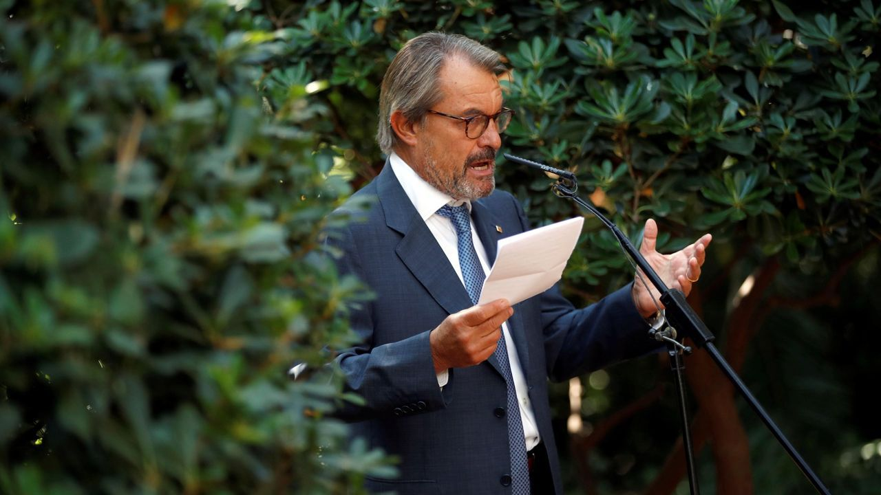 El presidente de la Generalitat, Quim Torra, durante el acto institucional de la Diada más atípica