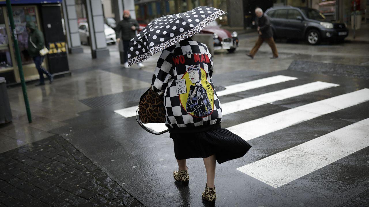 Jornada de paraguas en A Coruña