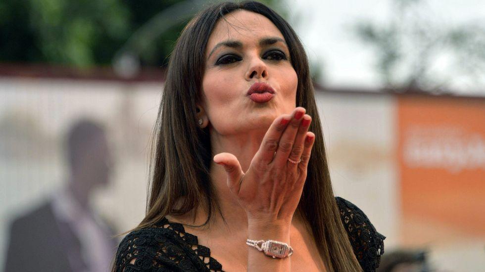 La actriz italiana Maria Grazia Cucinotta