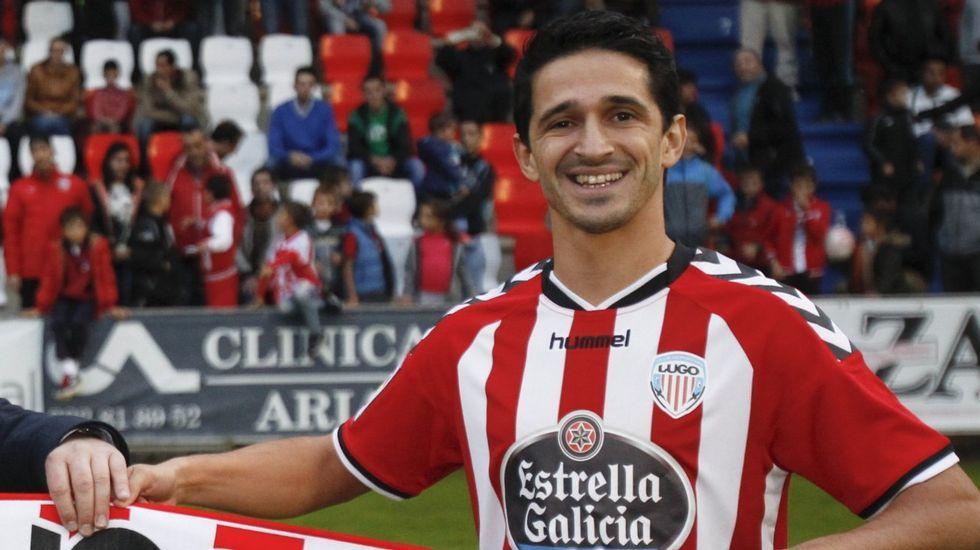 Jonathan Pereira. No renovó con el Lugo. Interesa al Almería.