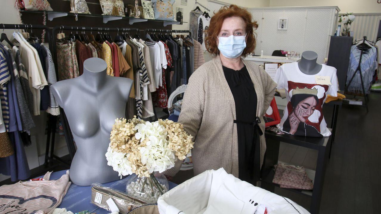 Lola Sanmartín, dueña de la tienda de ropa femenina Dolores Lola