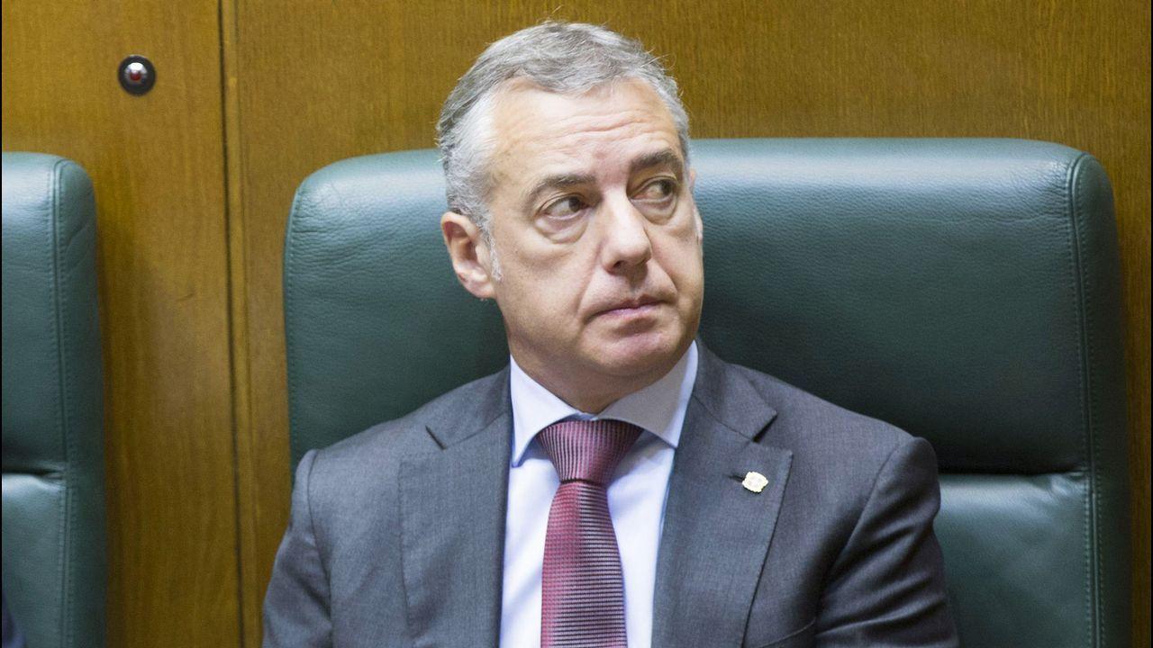Rueda de prensa de Alberto Núñez Feijoo.Íñigo Urkullu