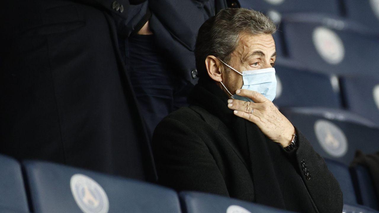 El expresidente Sarkozy el pasado 22 de enero en el partido Paris St. Germain-Montpellier