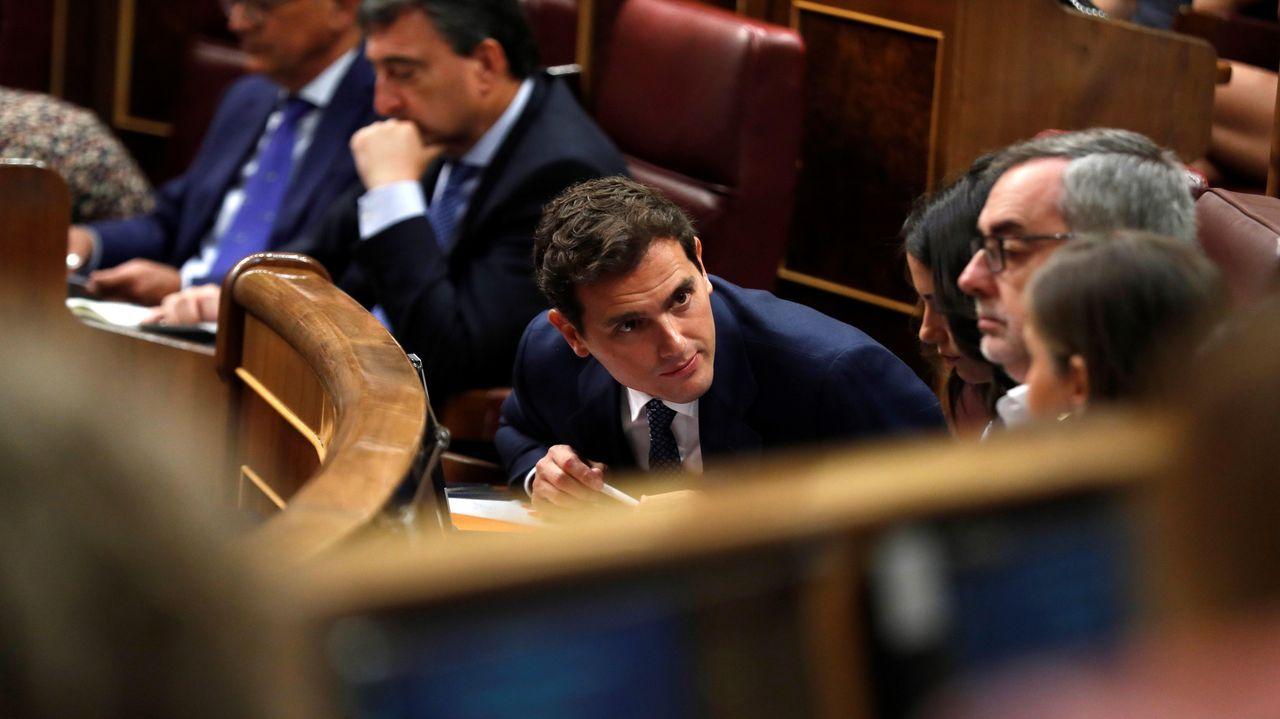 El presidente de Ciudadanos, Albert Rivera, en el debate de investidura