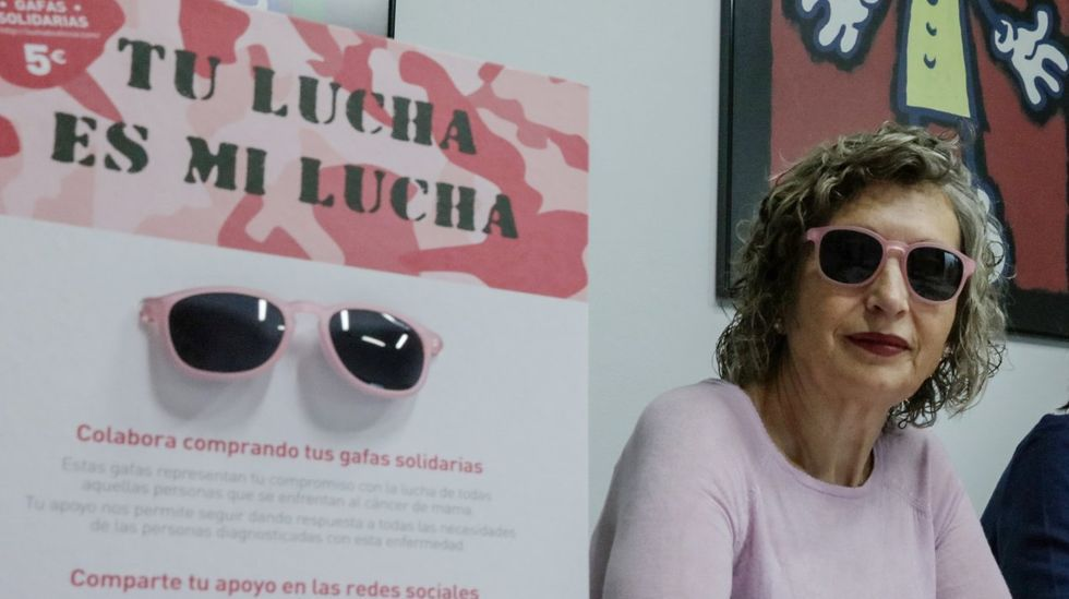 Dora Gómez, en la presentación de una de las campañas de la AECC en Ourense