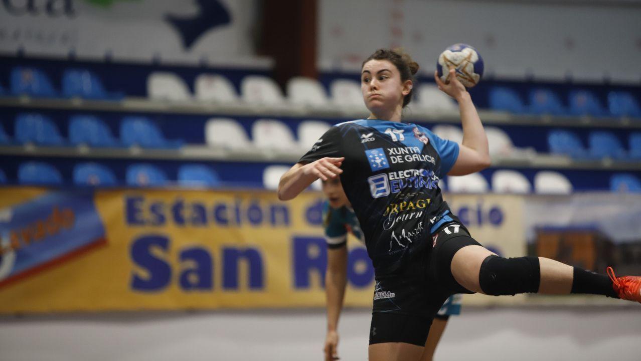 El técnico del Carnes do Ribeiro de balonmano, Félix Mojón