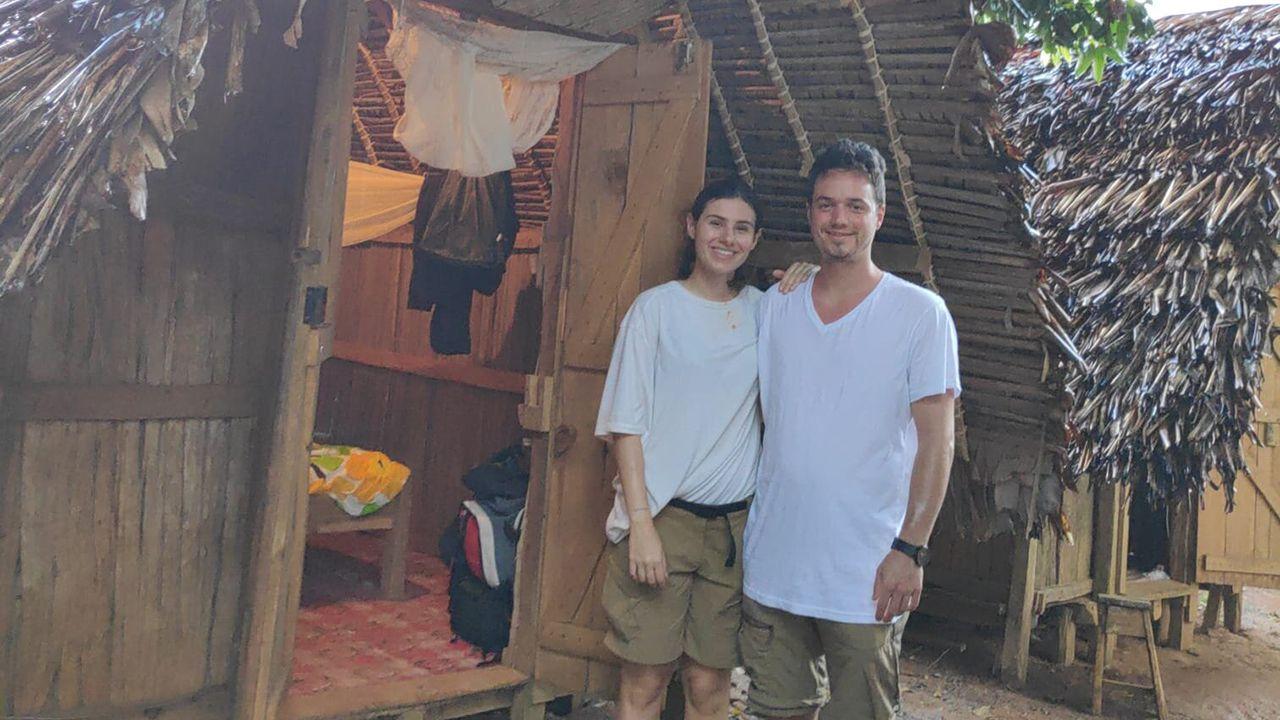 Pablo Eichelbaum y Noelia Martínez durante su viaje en Madagascar