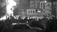 Hogueras de San Xoán en el Berbés en 1987
