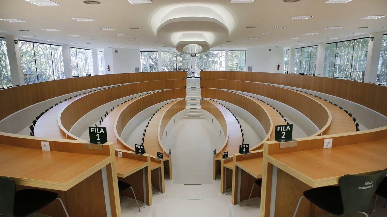 Una de las aulas de la UNED en Ponetevdra