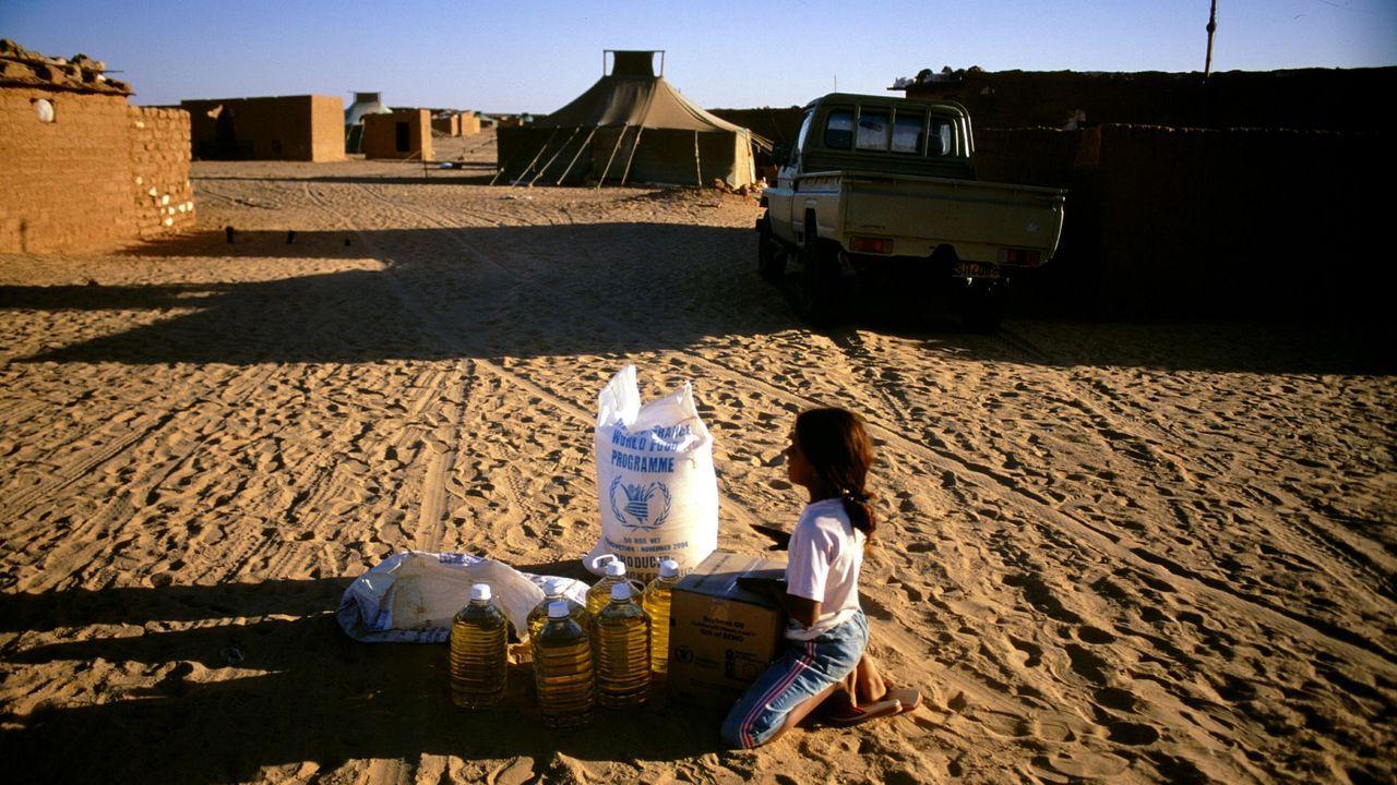 Campamento de refugiados saharauis en Argelia