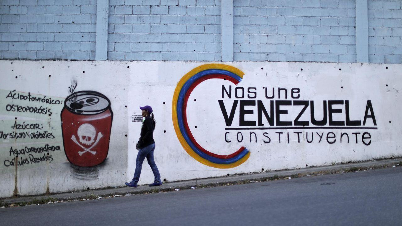 Venezuela celebra hoy las elecciones a la Asamblea Constituyente.Diosdado Cabello y Nicolás Maduro, durante el acto de cierre de campaña para la elección de la Asamblea Constituyente