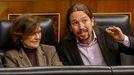Los vicepresidentes Carmen Calvo y Pablo Iglesias