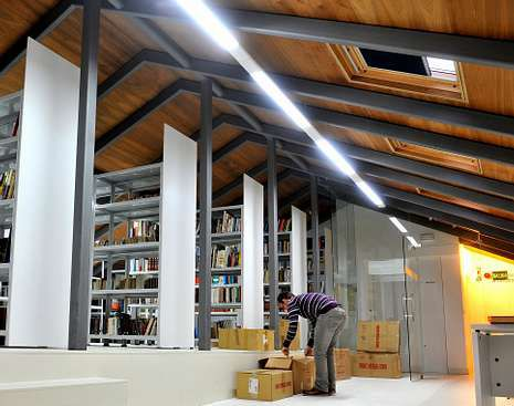 La biblioteca del Ateneo Ferrolán, en el cuarto piso.