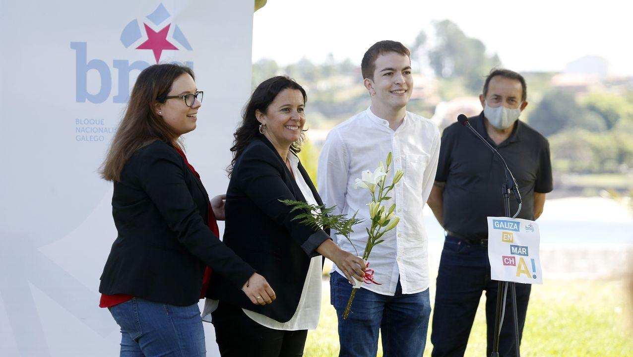 Luis Seara, Noa Presas y Ana Miranda