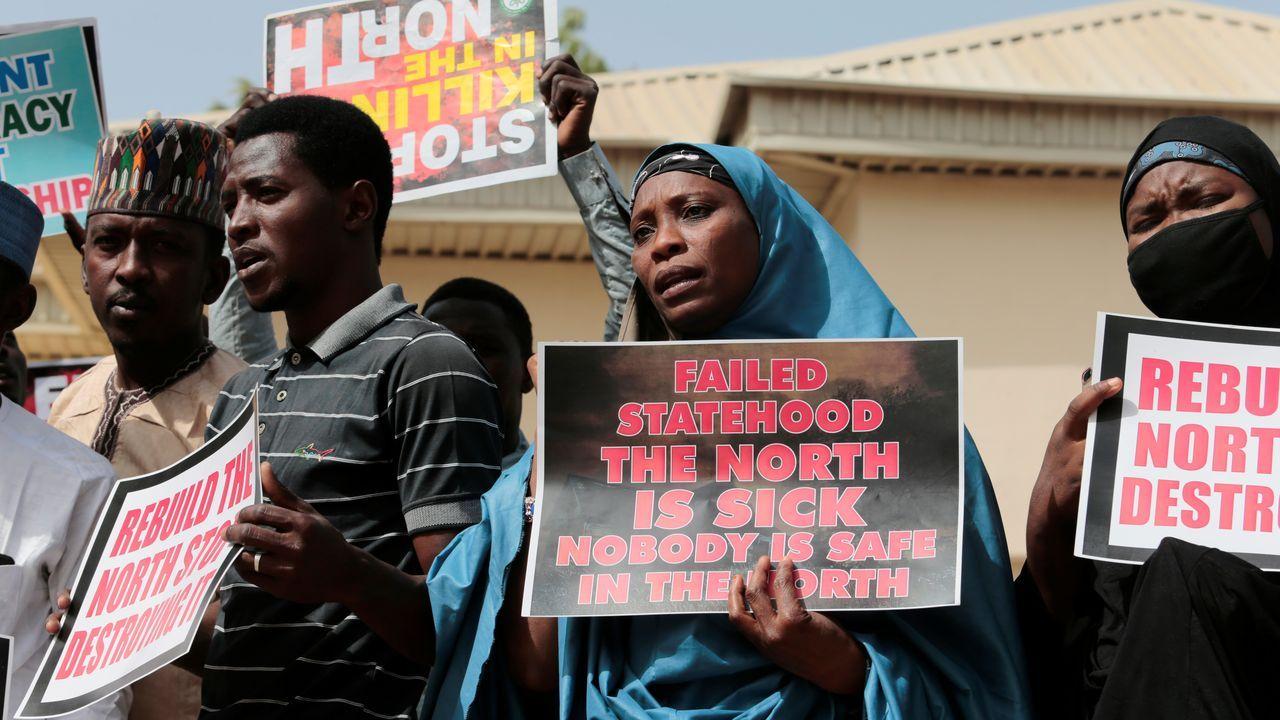 Protesta ante el secuestro de cientos de niños nigerianos