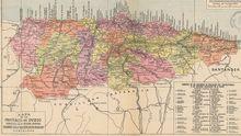 Antiguo mapa de Asturias