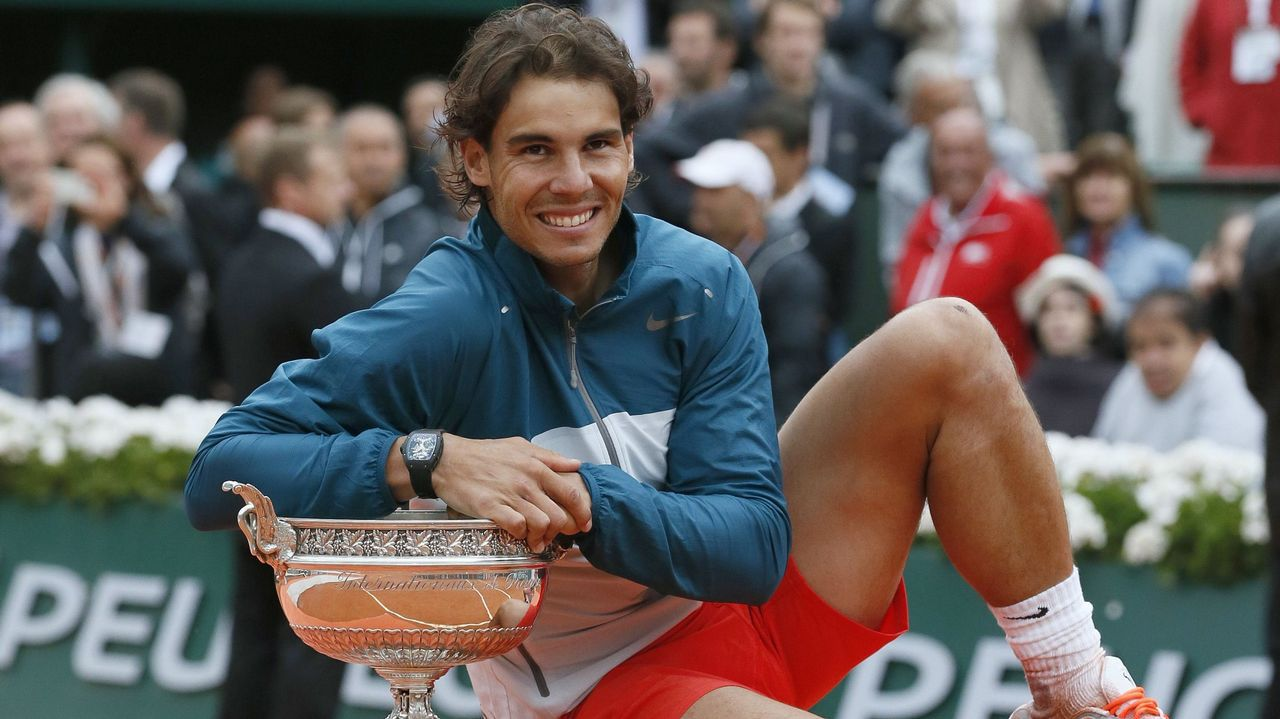 En 2013 ganó en la final a David Ferrer y conquistó la tierra de París por octava vez