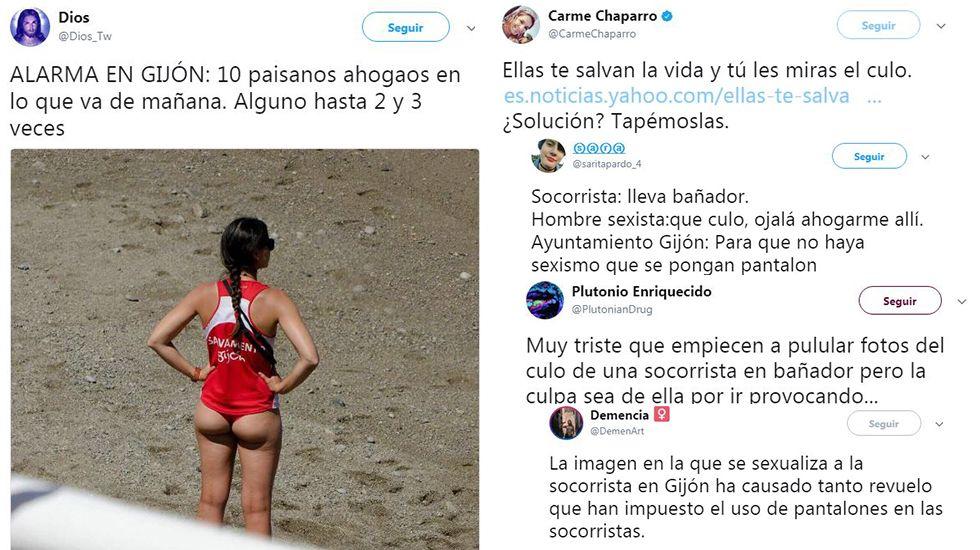 La polémica por el vestuario de las socorristas de Gijón invade las redes
