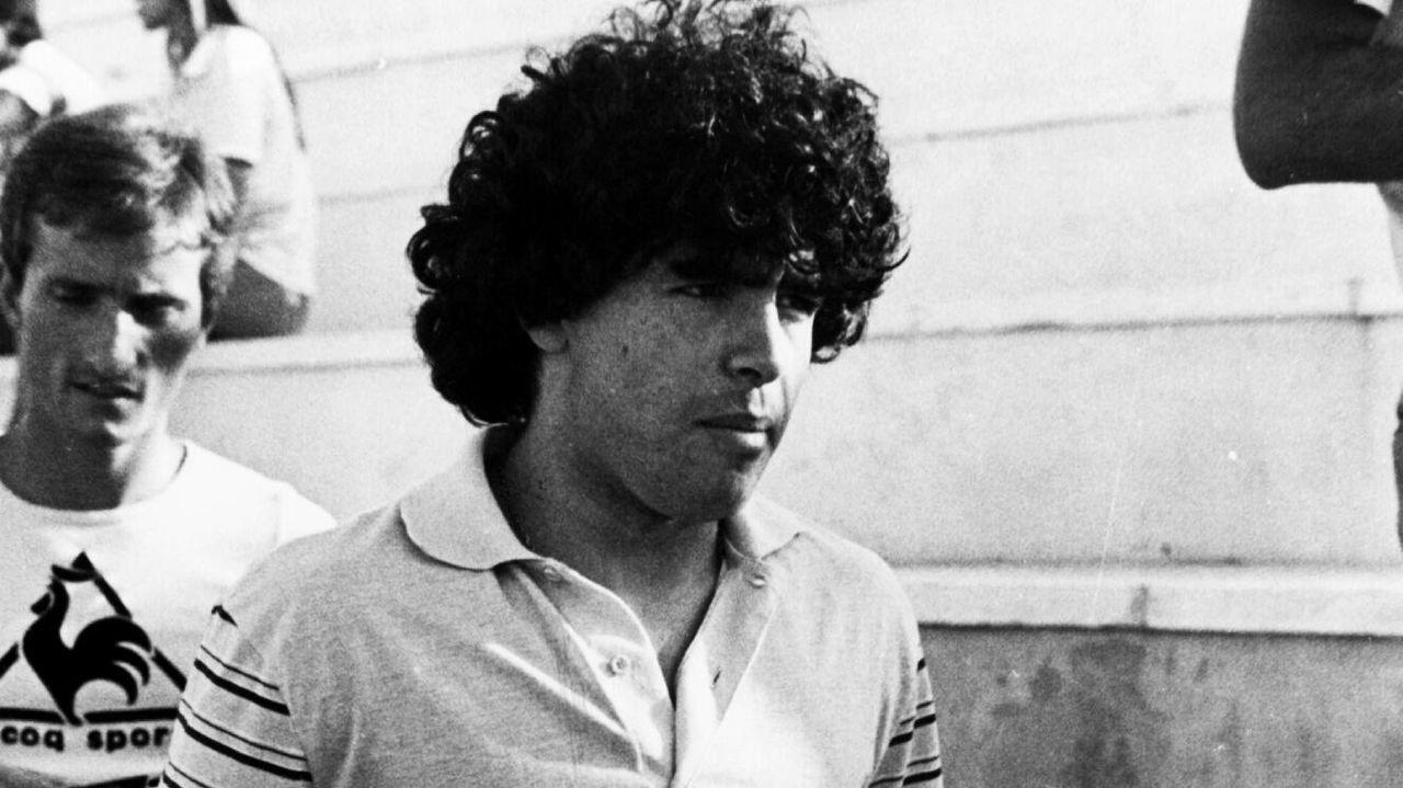 Maradona, en la temporada de su fichaje por el Barcelona