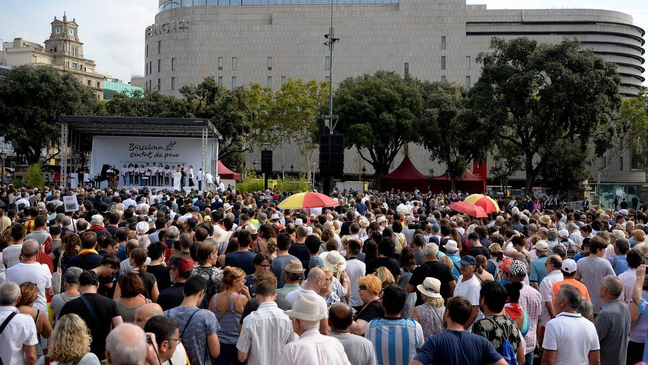 Homenaje a las victimas de los atentados yihadistas del 17A en Barcelona