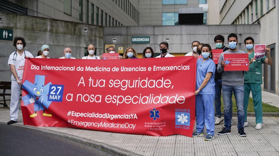 Protesta en el CHUO para pedir un MIR de Urgencias