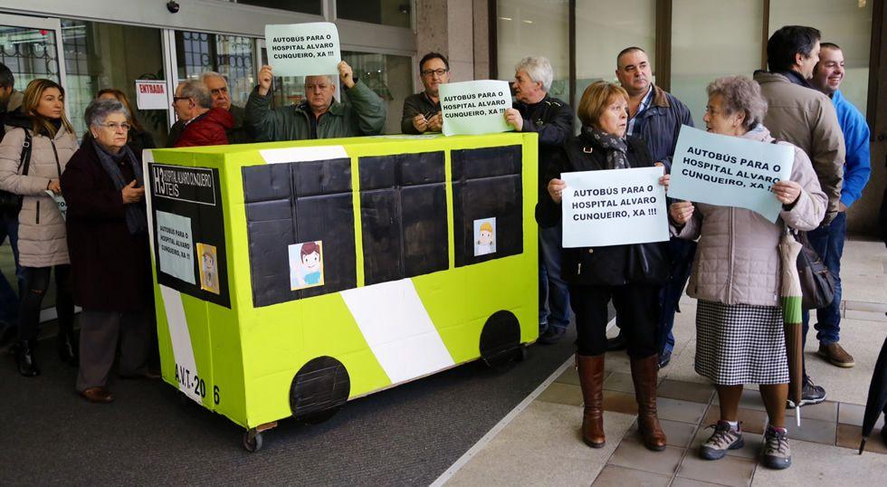 Los vecinos de Teis piden un bus directo al Cunqueiro