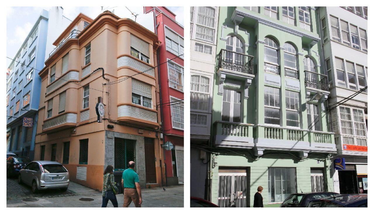 A la izquierda, el número 16 de la calle María; y a la derecha, el 60 de la calle de la Iglesia