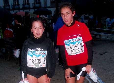 Ainara Rodríguez y Claudia Graña, derecha, dominaron su categoría.