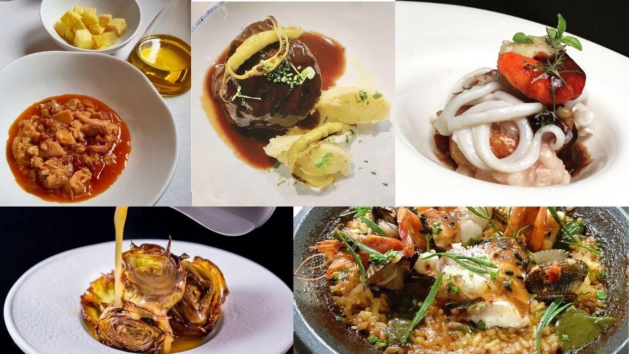 Vilamarín, donde empezó todo para los tres estrella Michelin ourensanos.Algunos de los platos de los locales asturianos de la lista Bib Gourmand