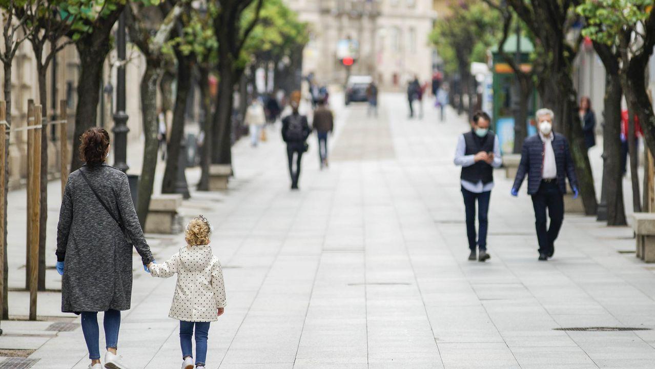 Imagen de Ourense el primer día en el que los niños pudieron salieron a la calle
