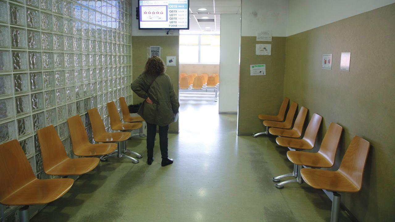 Los cinco años de reinado de Felipe VI en imágenes.Huelga de médicos de atención primaria. Imagen del ambulatorio Concepción Arenal de Santiago