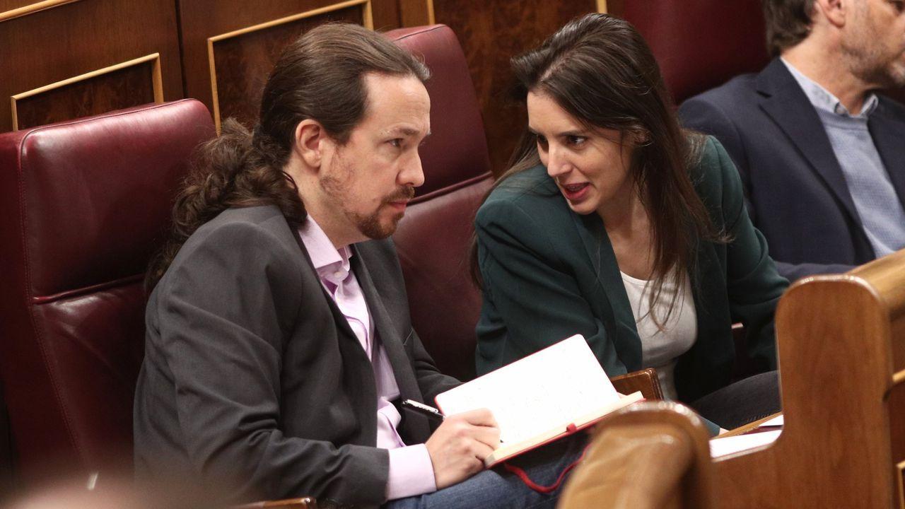 Iglesias, en una foto de archivo junto a Irene Montero, exigía estar en la comisión de Inteligencia