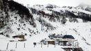 Primera capa de nieve en la estación de esquí de Fuentes de Invierno