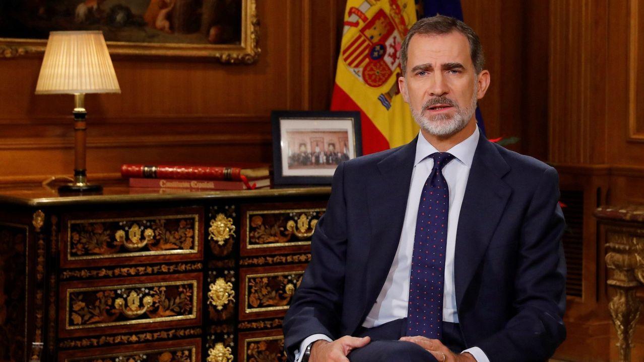 EN DIRECTO: mensaje del rey Felipe VI.El rey Felipe ya apartó a su padre de la vida pública