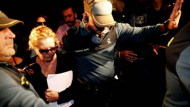 Maite Zaldívar ya está en la cárcel.Maite Zaldívar, ex mujer de Julián Muñoz, a su llegada a la cárcel de Alhaurín de la Torre, en Málaga.