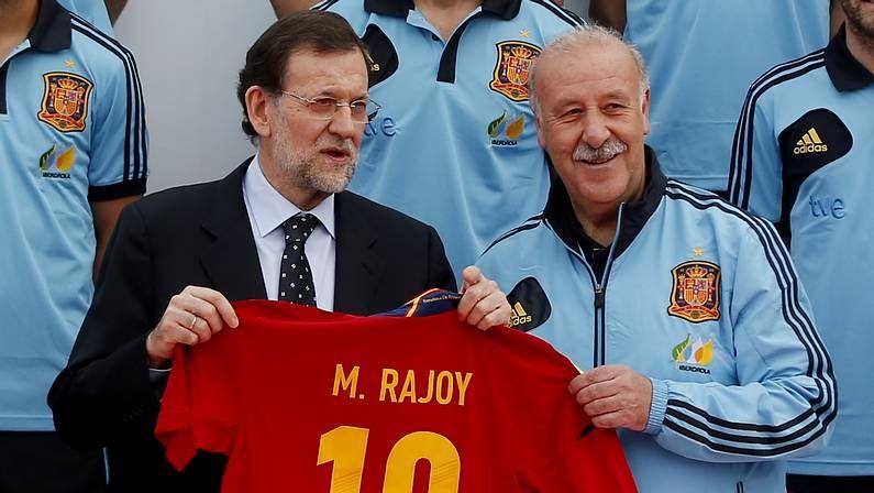 Rajoy despidió a la selección antes de partir rumbo a la Eurocopa.