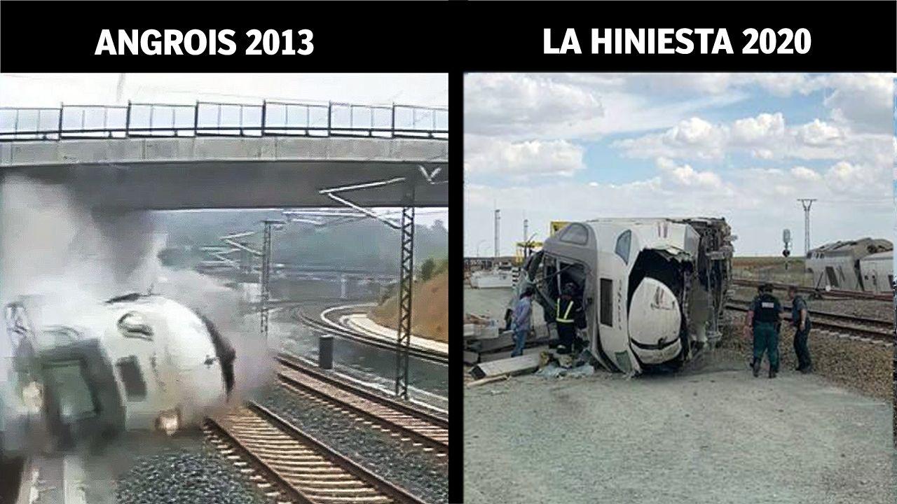 Homenaje a las víctimas del accidente de tren de Angrois.El accidente del Alvia en La Hiniesta motivó el corte de la línea hasta el día 25