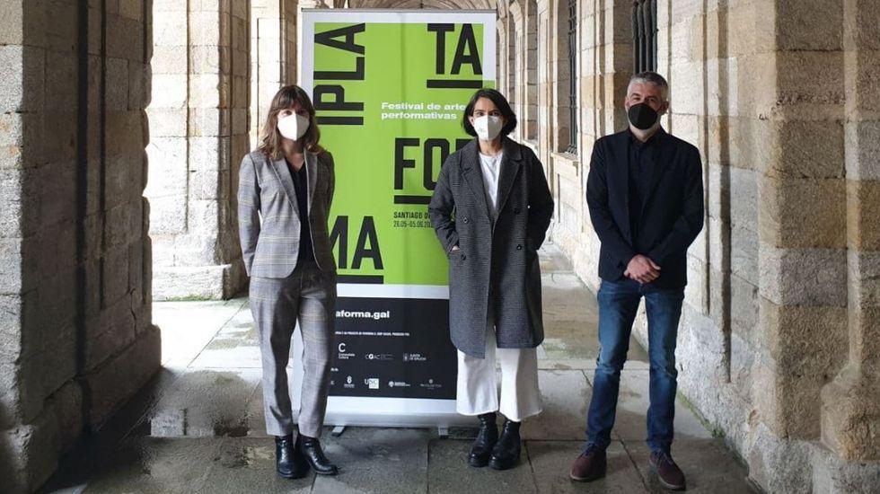 Sarmento, posando en la muestra que en el 2014 protagonizó en la Fundación Luis Seoane