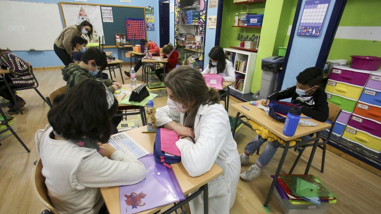 Imagen de archivo de un aula escolar en Ferrol