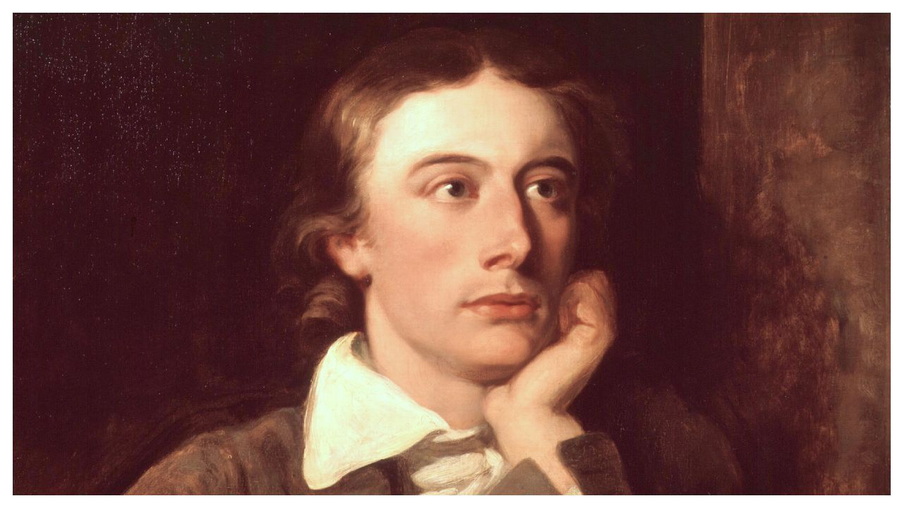 Detalle del retrato del poeta John Keats realizado en 1822 por William Hilton y conservado en la National Portrait Gallery londinense