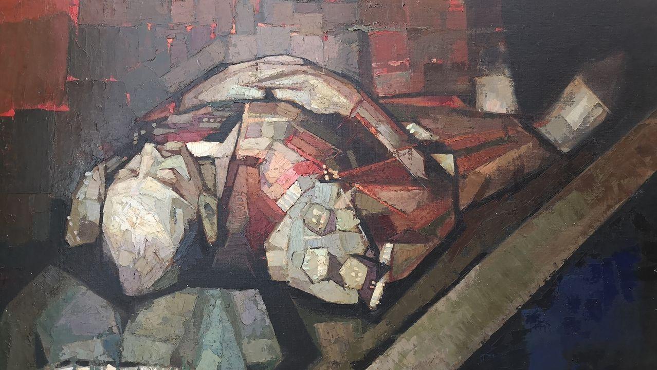«Torero yacente» (detalle), de Ricardo Segura Torrella, expuesta en Artby's