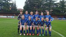 Real Oviedo Femenino Eibar San Gregorio.Alineación azul frente al Eibar