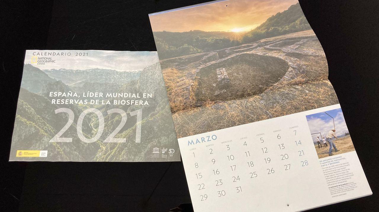 La naturaleza salvaje de National Geographic toma Príncipe.El castro de Santa María de Cervantes ilustra el mes de marzo del calendario de National Geographic