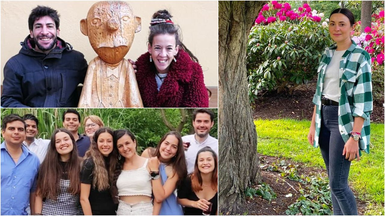 Así es el primer parque de las emociones.Raúl y María (foto de arriba) están desde febrero en Brandemburgo; Elisabeth (derecha) y Tamara (en la foto de grupo, con top y pantalón blanco) en Bremen