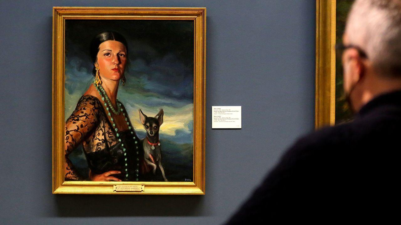 Una vez en diciembre: las fotos de un día de temporal en A Coruña.El retrato que la pintora Elena Olmos le hizo a Herminia Borrell fue donado por sus hermanos al Museo de Belas Artes de A Coruña